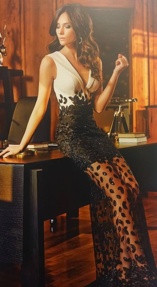 robe libanaise noire et blanche design