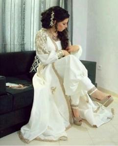 Robe dubai pantalon blanc magnifique