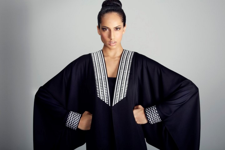 abaya de luxe noire