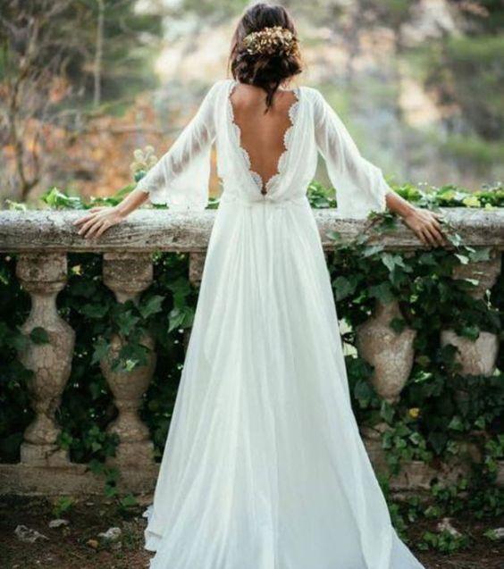 Belle robe blanche 2018