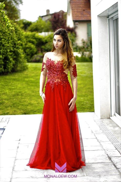 Monaloew robe libanaise dentelle 7 monaloew for Robe rouge pour mariage