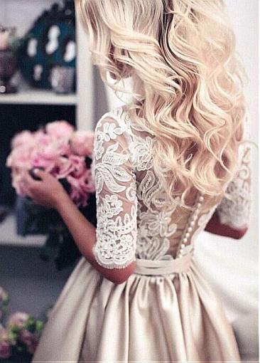 Magnifique robe de mariée, robe de soirée blanche en dentelle. Livraison gratuite. Robes de qualité. Robe en satin. Robe crème, blanche.