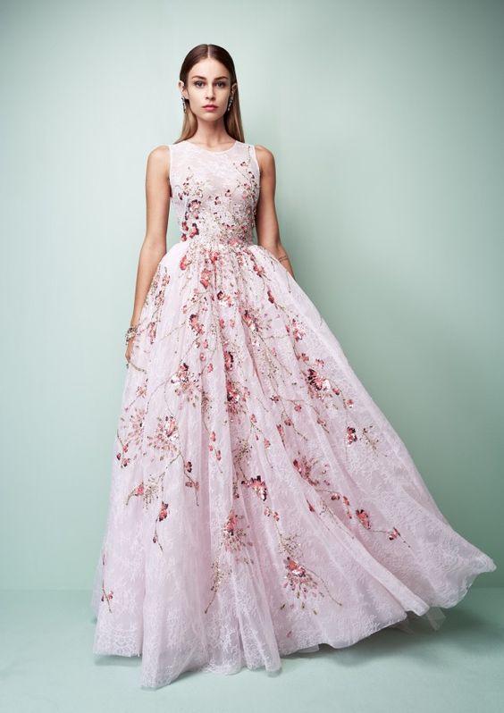 robe-demoiselle-d'honneur-longue-fleurs