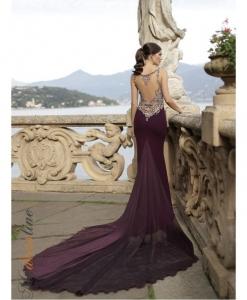 robe couture viollette Tarik Ediz