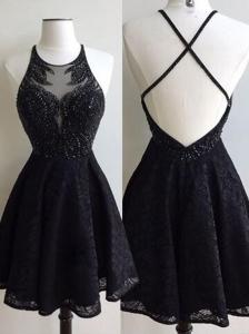 robe soirée noire pour femme petite