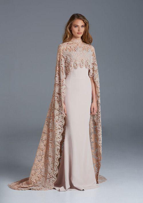 robe-demoiselle-d'honneur-longue-cape