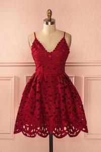 robe soirée rouge pour femme petite