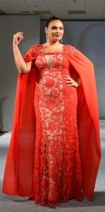 robe orientale rouge grande taille