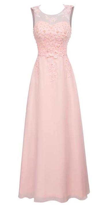 Robe demoiselle d'honneur rose