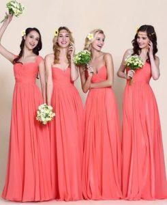 Les 10 plus belles robes de demoiselle d'honneur corail