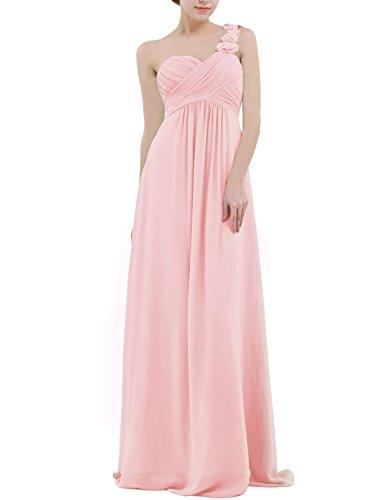 Robe rose poudré asymétrique