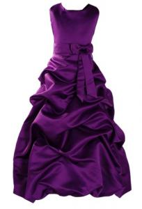 Robe violette plissée sans manches