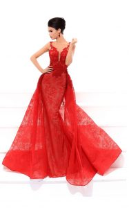 ROBE ROUGE BORDEAUX ORANGE TARIK EDIZ COLLECTION NOUVELLE 2018 MARIAGE ORIENTALE ROBE DE SOIREE